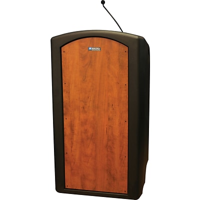 AmpliVox® ST3250-SC Pinnacle Full Height Lectern w/ Microphone; Select Cherry