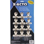 X-ACTO® Bulldog® Magnetic Clips, #2, 2 1/4 Wide, 1/2 Capacity, SR, 12/Pk