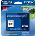 Brother TZe 1/4 Tape Black on Clear