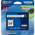 Brother TZe 3/8 Tape Black on White