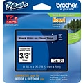 Brother TZe 3/8 Tape Black on Clear