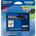 Brother TZe 1/2 Tape White on Black