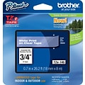 Brother TZe 3/4 Tape White on Clear