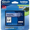 Brother® TZe Series Tape, 3/4, Black Lettering on Clear Label Tape