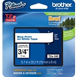 Brother TZe 3/4 Label Tape Blue/White