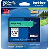 Brother® TZe Series Tape, 3/4, Black Lettering on Green Label Tape