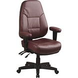 Office Star™ Dual Function Ergonomic High- Back Leather Managers Chair, Burgundy