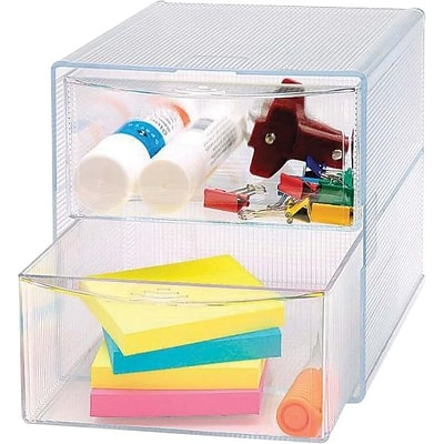 Sparco Removeable Storage Drawer Organizer, Clear