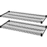 Lorell 4-Tier Wire Rack with Shelves, Black