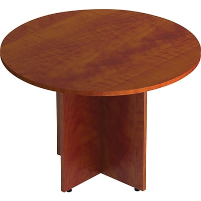 GIS Offices to Go™ Superior Laminate Round Conference Table, American Dark Cherry, 29 1/2H x 42 Diameter (TDSL42RADC)