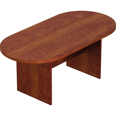 Offices To Go® Racetrack Conference Table, American Dark Cherry, 29 1/2H x 71W x 36D