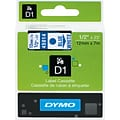 DYMO® D1 Labels; 1/2, Blue on White