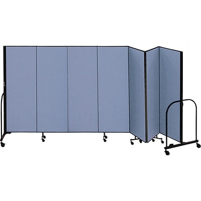 Screenflex® 7-Panel FREEstanding™ Portable Room Dividers, 6H x 131L, Blue