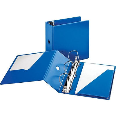 Cardinal® Super-Strength™ Slant-D® Locking 5 D-Ring Binder, Non-View, Blue, 3-Ring