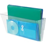 Single Unit Wall Pocket, 1 Compartment, Legal Size, Clear(DEF74301)