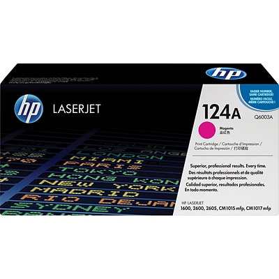 HP 124A Magenta Toner Cartridge (Q6003A)