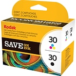 Kodak 30 Ink Cartridges Black & Color Multi-pack (2 cart per pack)