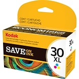 Kodak 30C XL Color Ink Cartridge (1341080); High Yield