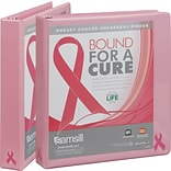Samsill Standard 1 3-Ring View Binder, Pink Ribbon (10051)
