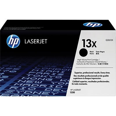 HP 13X Black Toner Cartridge (Q2613X), High Yield