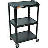 Luxor® Adjustable Steel Multi-Media Cart