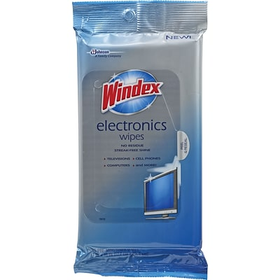 Windex® Electronics Wipes, 25 Wipes/Pack