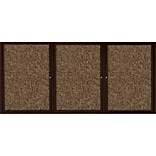 Best-Rite Enclosed Rubber Tak Bulletin Board, Coffee Finish Frame, 6 x 4