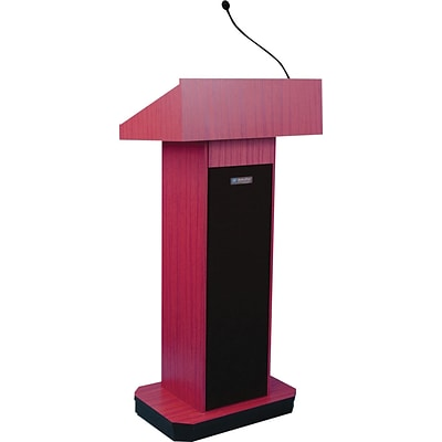 AmpliVox® S505-MH Executive Sound Column Lectern; Walnut
