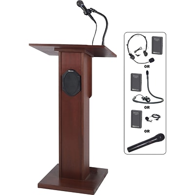AmpliVox Sound Systems Elite Floor Lectern, Mahogany (SW355-MH)