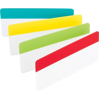Post-it® Durable Filing Tabs, 3 Wide, Assorted Colors, 24 Tabs/Pack (686ALYR3IN)