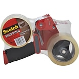 Scotch Commercial Grade Shipping Packing Tape with Dispenser, 1.88 x 54.6 yds, Clear, 2/Pack