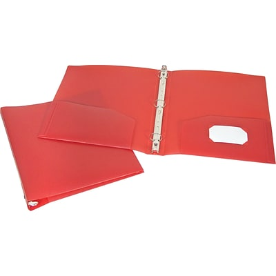 Storex® 1 Round Ring Binder, Non-View, Red, 3-Ring