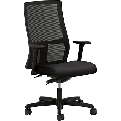 HON® Ignition ™ Work Chair, Mesh Fabric, Black, Seat: 19W x 18D, Back: 17 1/2W x 23 1/2H