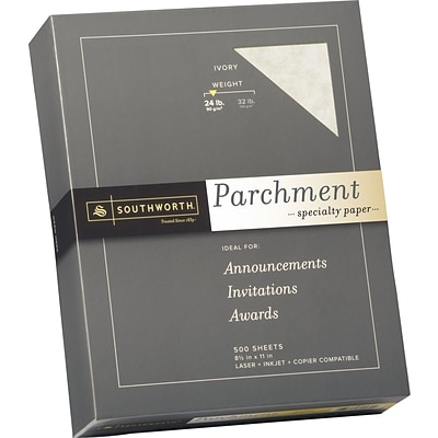 Southworth 8.5 x 11 Specialty Paper, 24 lbs., 100 Brightness, 500/Box (984C)