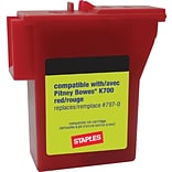 Staples® Compatible Postage Meter, Pitney Bowes 797-0/797-Q/797-M, Red