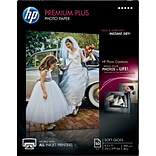 HP Premium Plus Photo Paper; 8-1/2x11