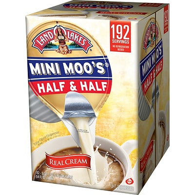 Land O Lakes® Mini Moos® Real Dairy Half & Half Creamer, 192/Case