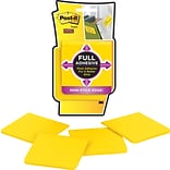 Post-it® Super Sticky Full Adhesive Notes, 3 x 3, Yellow, 4 Pads/Pack (F330-4SSY)