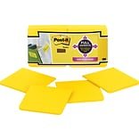 Post-it® Super Sticky Full Adhesive Notes, 3 x 3, Yellow, 12 Pads/Pack