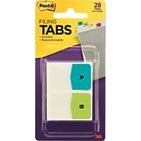 Post-it® Preprinted Letter Tabs, Assorted Colors, 28 Tabs/Pack (686ALPHA)