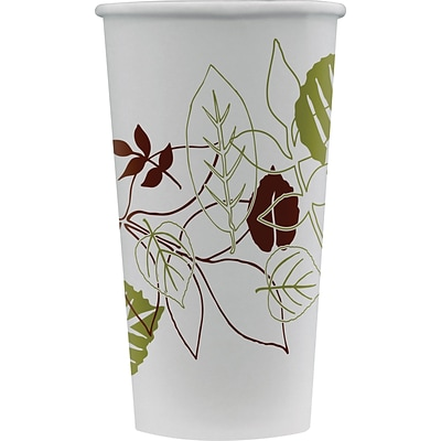 Dixie Pathways Poly Paper Cold Cups, 16 oz., White, 50/Pack (16PPATH)