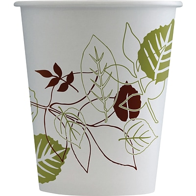 Dixie Pathways Poly Paper Hot Cups, 10 oz., White, 1000/Carton (2340PATH)