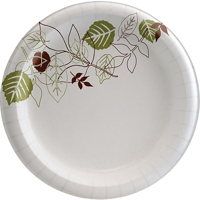 Dixie Pathways Medium-Weight Paper Plates, 8.5, 125/Pack (DXEUX9WSPK)