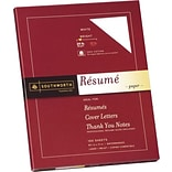 Southworth® 100% Cotton Resume Paper, White, 8 1/2(W) x 11(L), 100/Box