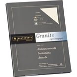 Southworth Granite Specialty Paper, 8.5 x 11, 24 lb., Smooth Finish, Ivory, 100 Sheets/Box (P934CK)