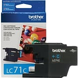Brother LC 71 Cyan Ink Cartridge, Standard (LC71CS)