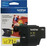 Brother LC 71 Yellow Ink Cartridge, Standard (LC71YS)