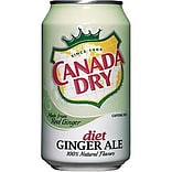 Diet Canada Dry® Ginger Ale Fridge Pack Bundle, 12 oz. Cans, 12/Pack, 2 Packs/Carton