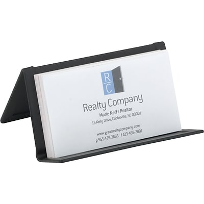 quill brand brushed metal business card holder - Metal Business Card Holder