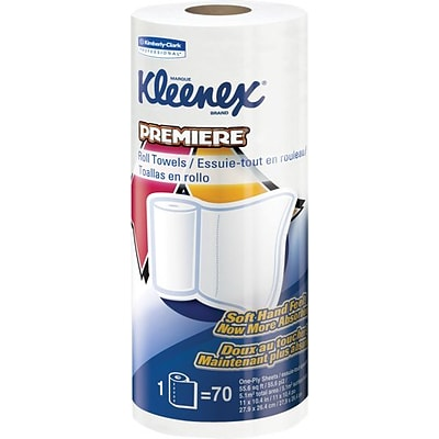 Kleenex ® Towels Premiere Kitchen Paper Towels, 70 Sheets/Roll, 24 Rolls/Case (13964)